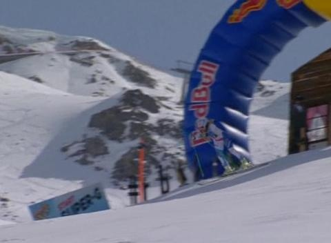 News video: Tina Maze Finishes Third in Red Bull Skills Event